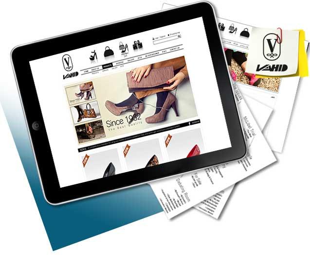 طراحی سایت کیف و کفش وحید