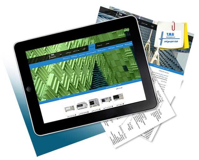 طراحی سایت شرکت تحلیل موج گستر
